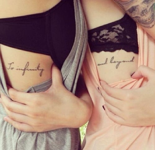 Infinity and Beyond Best Friend Side Tattoos