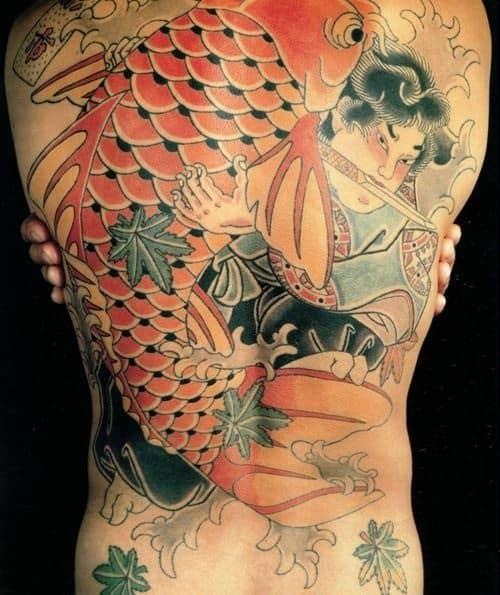 Koi Tattoo with Japanese Slayer