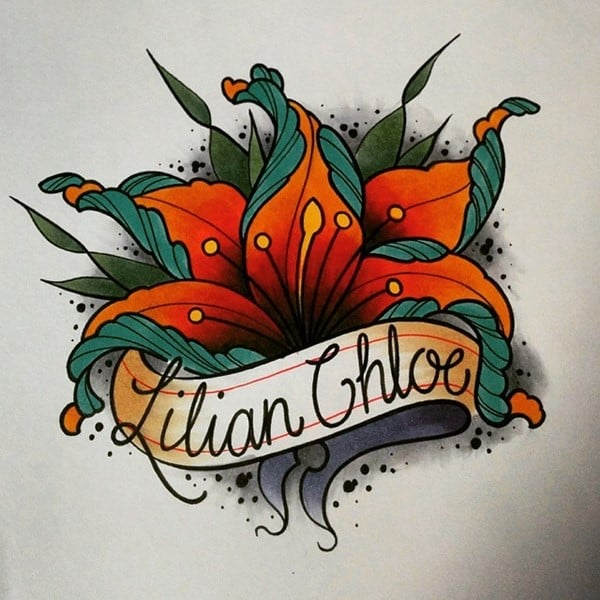 lily name tattoo