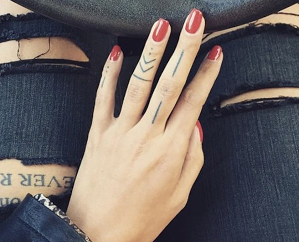 Lines Finger Tattoo