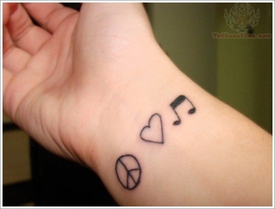 love-music-peace-tattoo-on-wrist