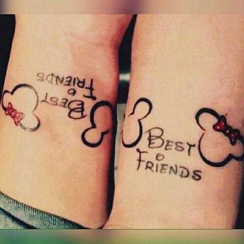 200 Matching Best Friend Tattoos (BFF) (February 2018) - Part 4