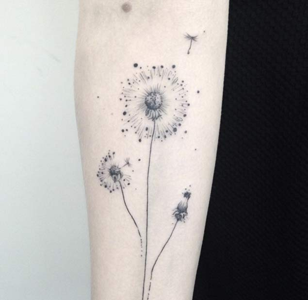 Minimal Dandelion Tattoo by Shpadyreva Julia
