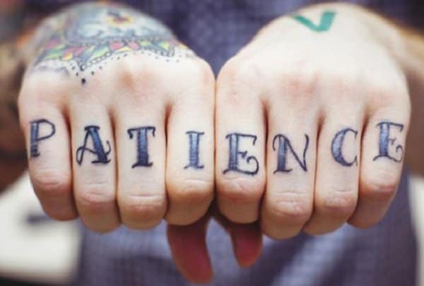 Patience Finger Tattoo