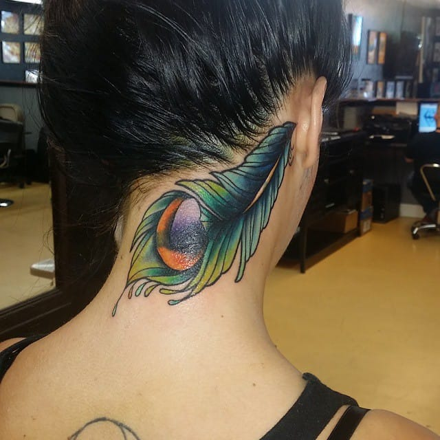 peacock feather tattoos