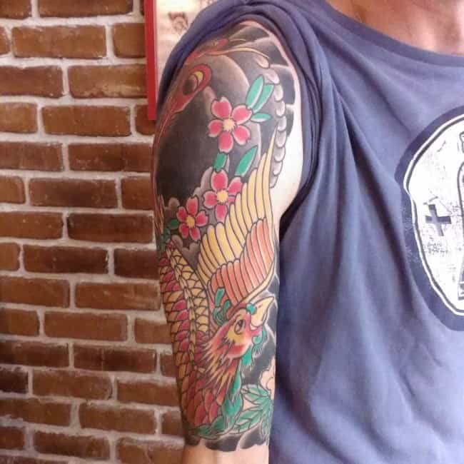 d6ee281e7 Text, such as initials, dates, names, or quotes can also be added to  highlight the symbolic meaning of the tattoo. Phoenix Tattoos