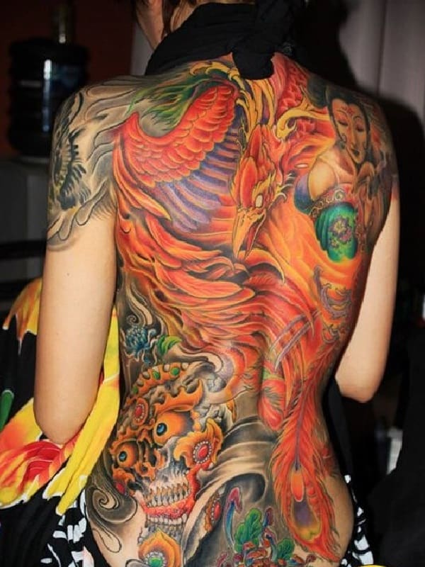 150177cf17c0c 110 Meaningful Phoenix Tattoos (Ultimate Guide, July 2019)