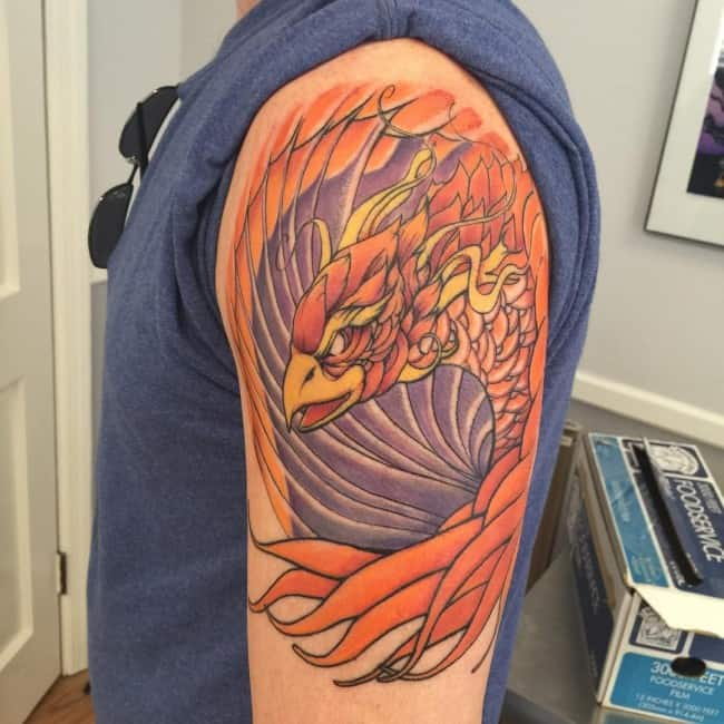 150 Meaningful Phoenix Tattoos Ultimate Guide November 2018