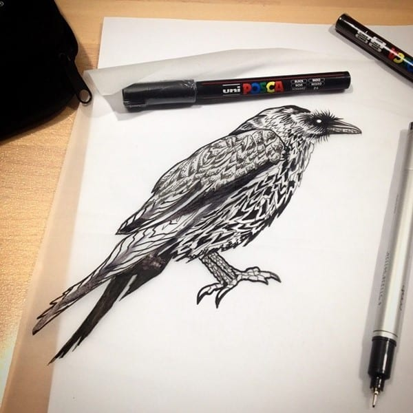 80 amazing raven tattoos that will change your life - 640×640