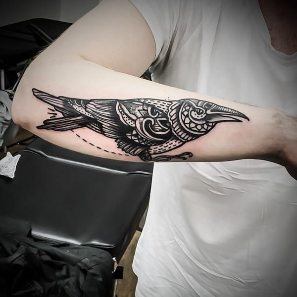 c155687b5 150 Meaningful Crow Raven Tattoos (Ultimate Guide 2019)