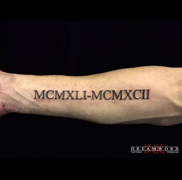 Roman Numeral Tattoos Font: 100 Stylish Roman Numerals Tattoos Ideas (March 2020