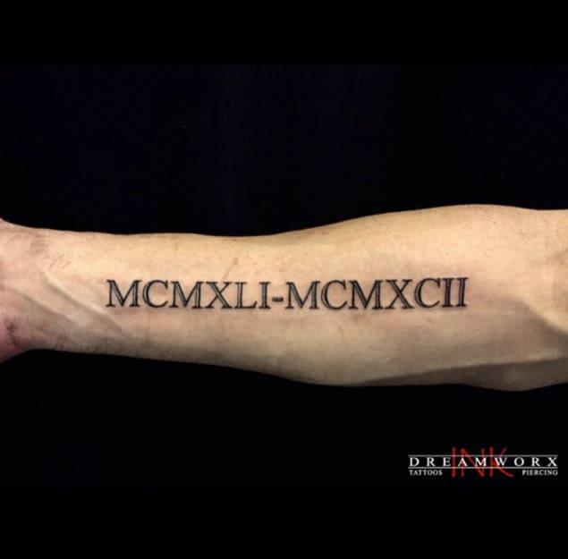 roman numeral tattoo designs