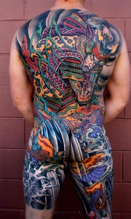 samurai-tattoo-killed-snake