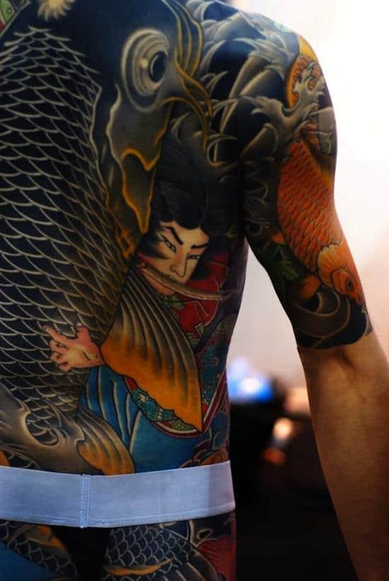 samurai-tattoo-koi