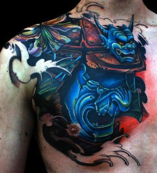 samurai-tattoos-blue-mask