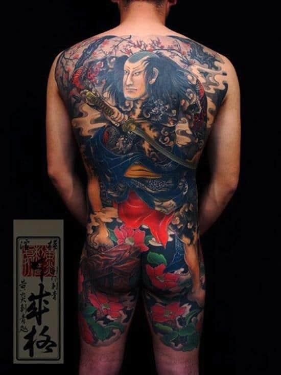 samurai-tattoos-colored