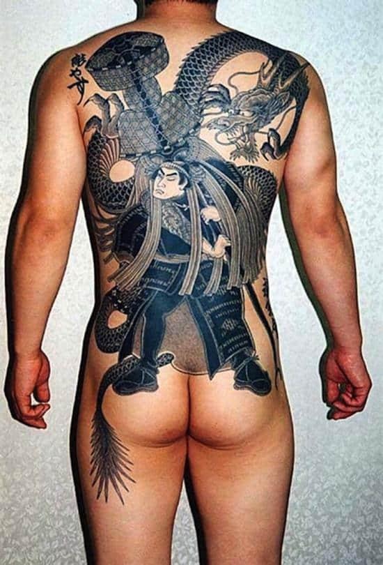 whole back samurai tattoo