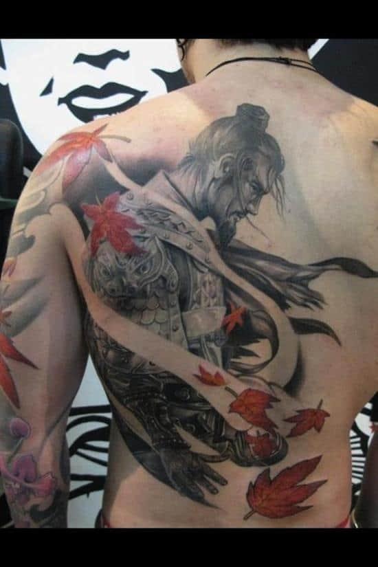 samurai tattoos fall season