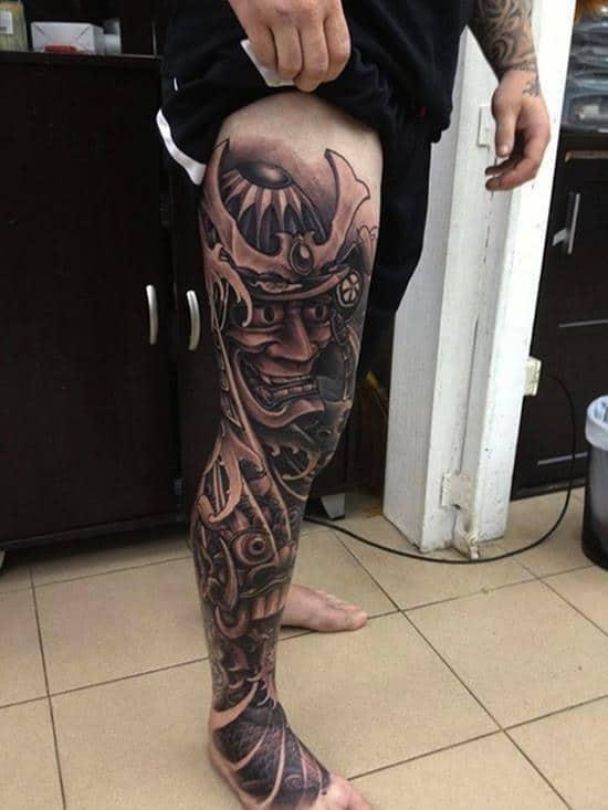 samurai-tattoos-full-leg