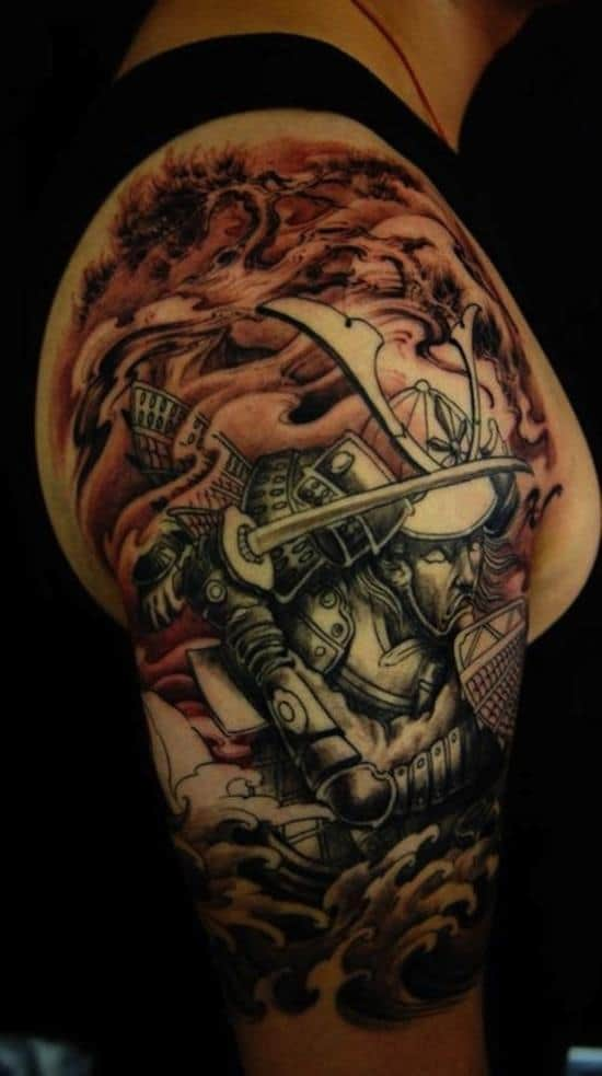 samurai-tattoos-lotus