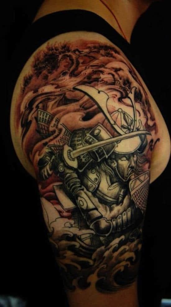 samurai-tattoos-lotus