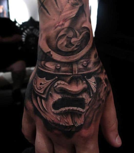 samurai-tattoos-mask-hand