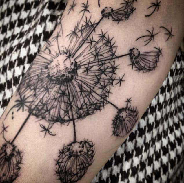 Sketchwork Dandelion Tattoo by Jason Maybruck