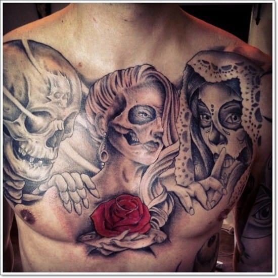 skull_day_of_dead_chest_tattoo_by_unibody-d7hkmsz