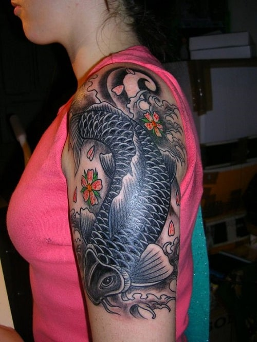 Sleeve Koi Fish Tattoo