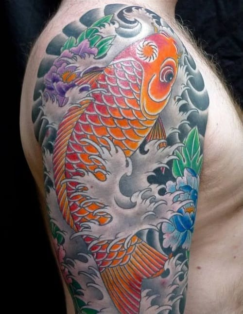 250 best koi fish tattoos meanings ultimate guide for Koi pond tattoo