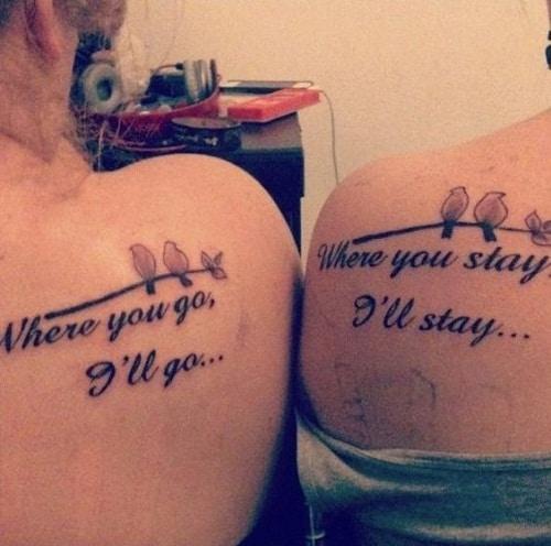 Small Birds Matching Best Friend Tattoos