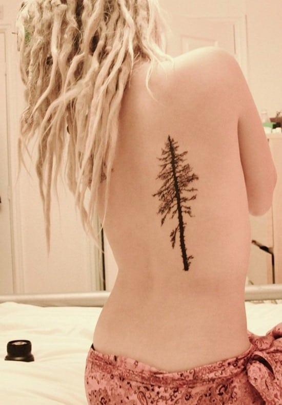 smallpintree-tattoo-on-back
