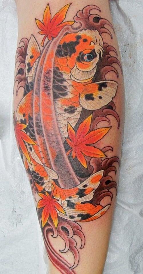 Spotted Koi Fish Tattoo
