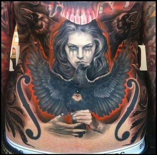 stomach-tattoo-bird-and-woman