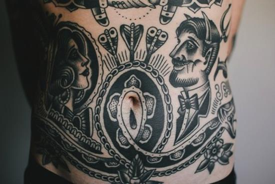 stomach-tattoo-interesting
