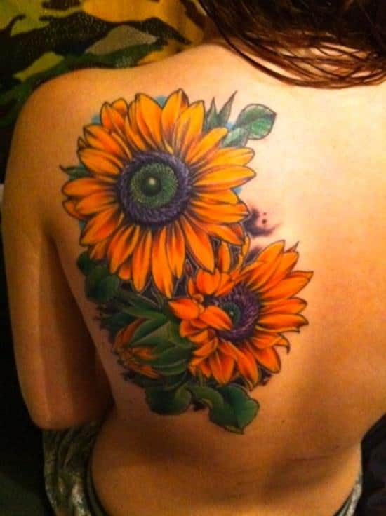 sunflower-tattoo-colorful