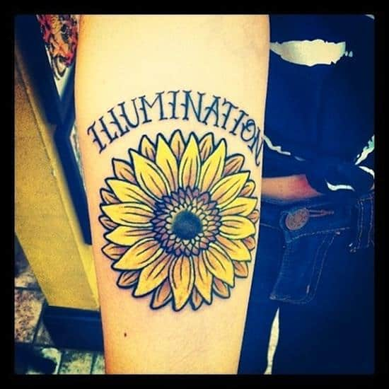 150 Vibrant Sunflower Tattoos And Meanings [2017 Collection]