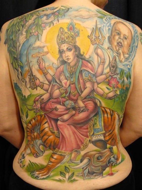 tiger and buddha tattoo