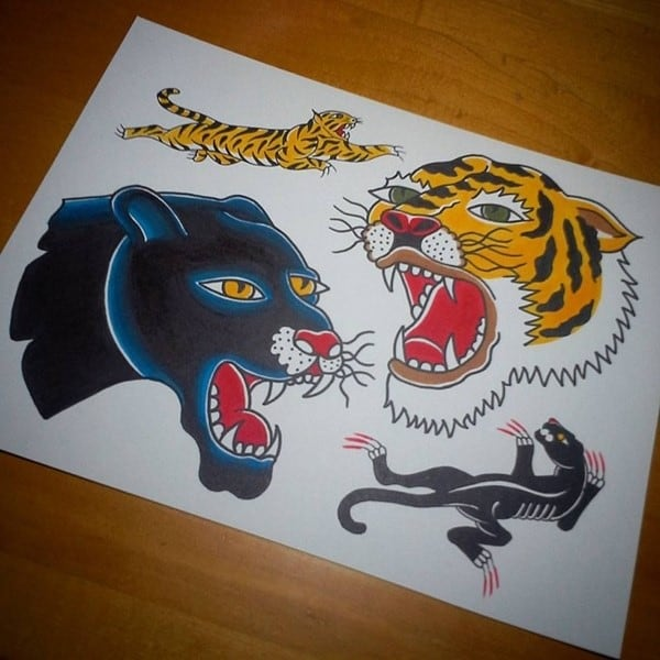 tiger and panther design