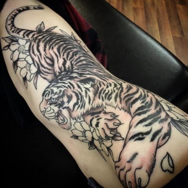 black ink tiger