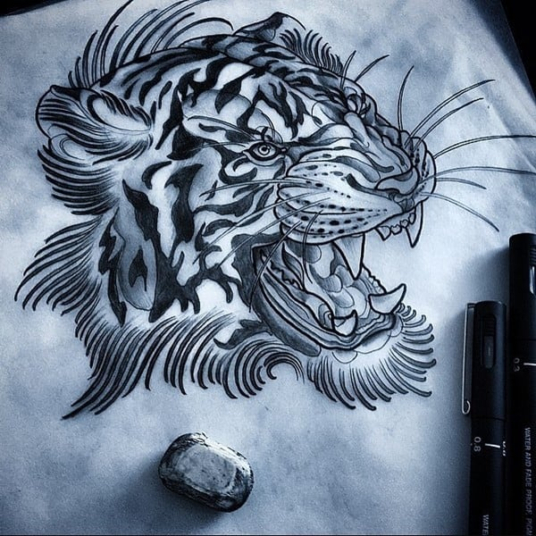 black tiger ink work