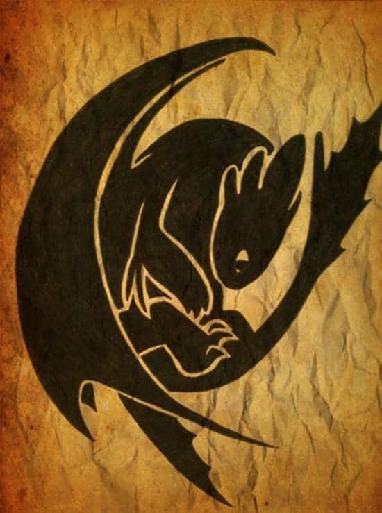 toothless Dragon tattoos designs ideas (4)
