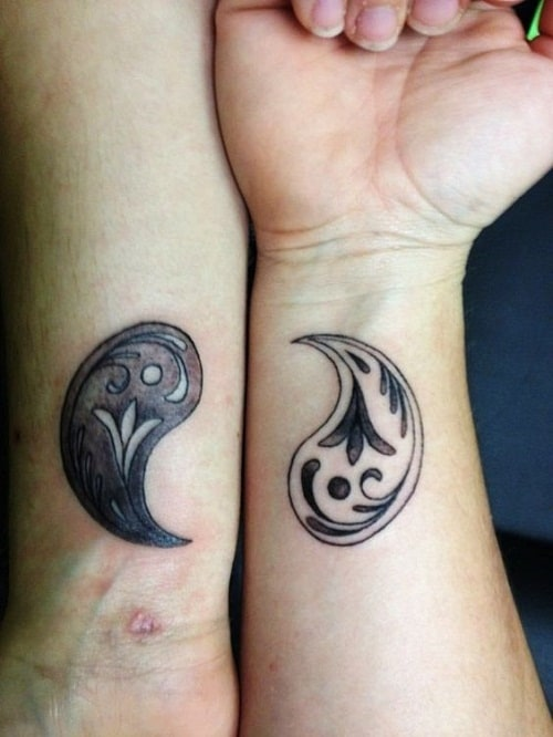 Yin and Yang Best Friend Tattoos