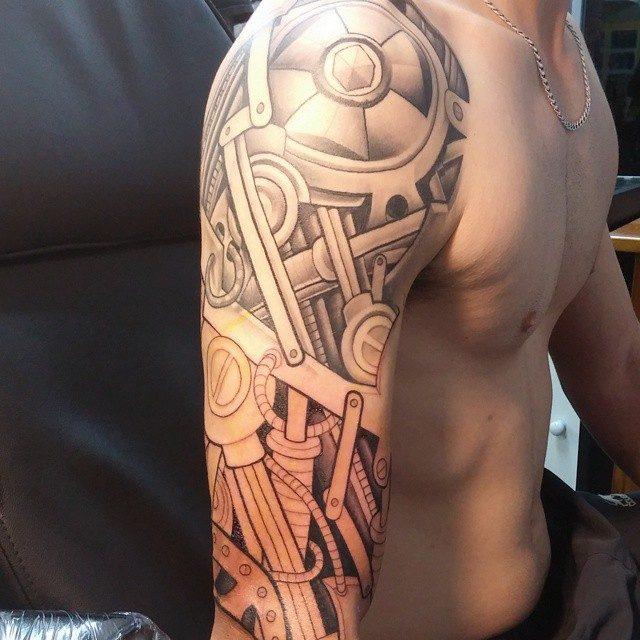 150 Creative Biomechanical Tattoos Ultimate Guide January 2019