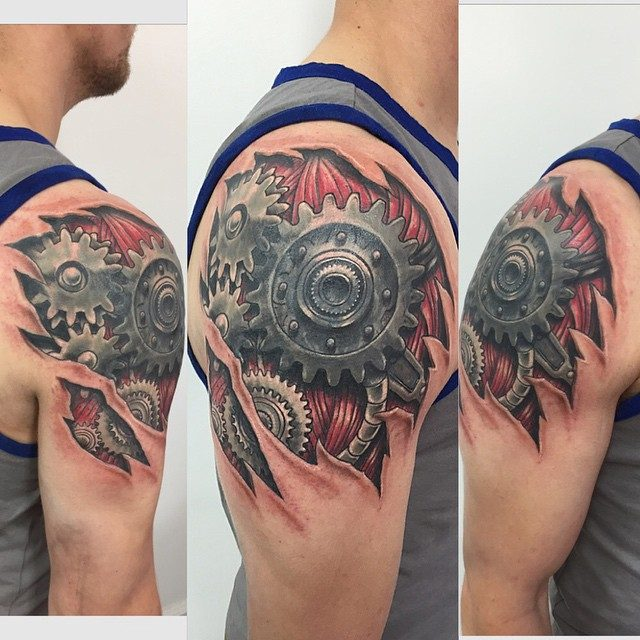 Biomechanical Heart Tattoo Pictures: 150 Creative Biomechanical Tattoos (Ultimate Guide, July 2019