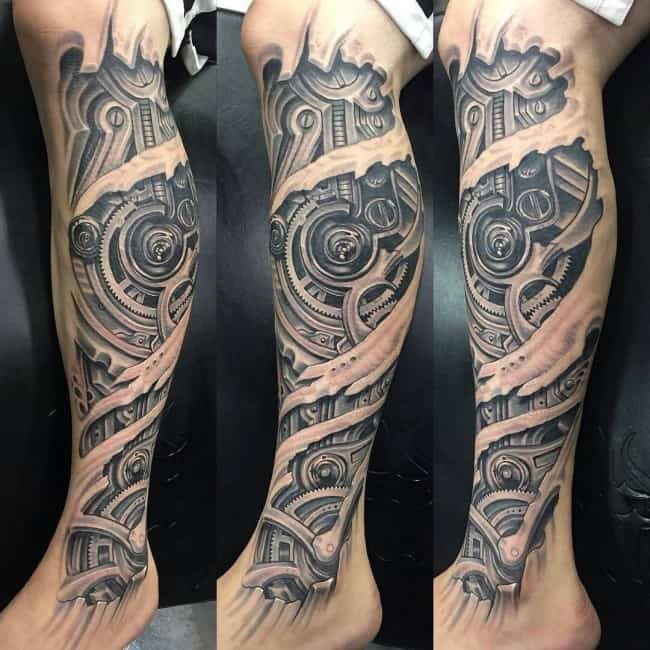 145 Innovative Biomechanical Tattoos, Meanings [2017
