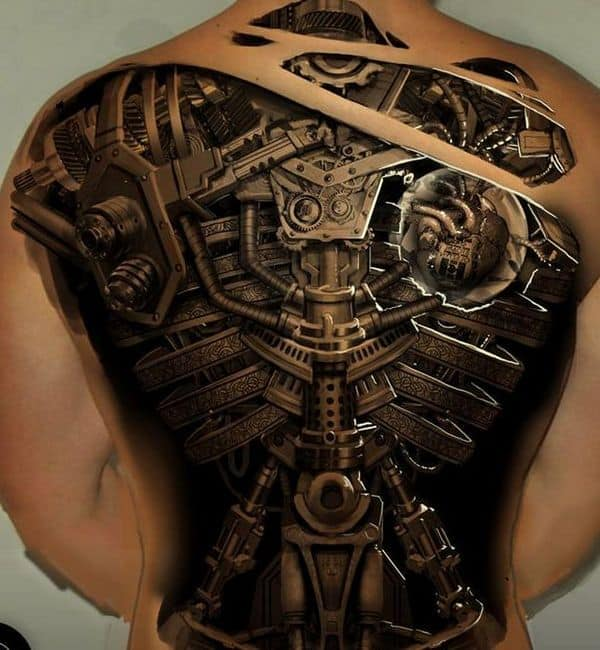 Biomechanical Heart Tattoo Pictures: 150 Creative Biomechanical Tattoos (Ultimate Guide, June 2020