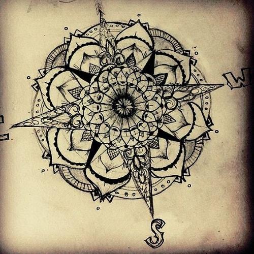Compass Draft Tattoo