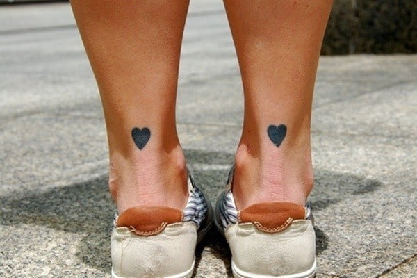 Couple Heart Tattoos On Finger