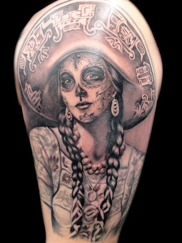 320cb3562 150 Meaningful Day of the Dead Tattoos (July 2019)